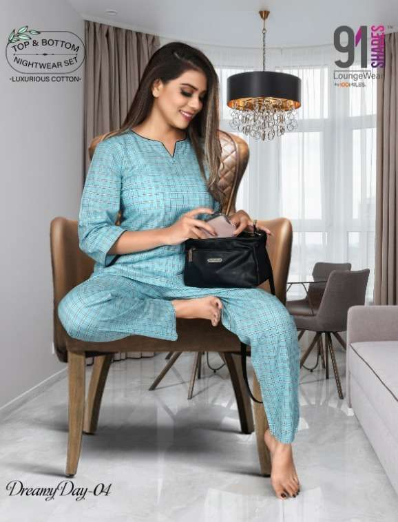 Dreamy Day By 91shades Cotton Night Suit Supplier