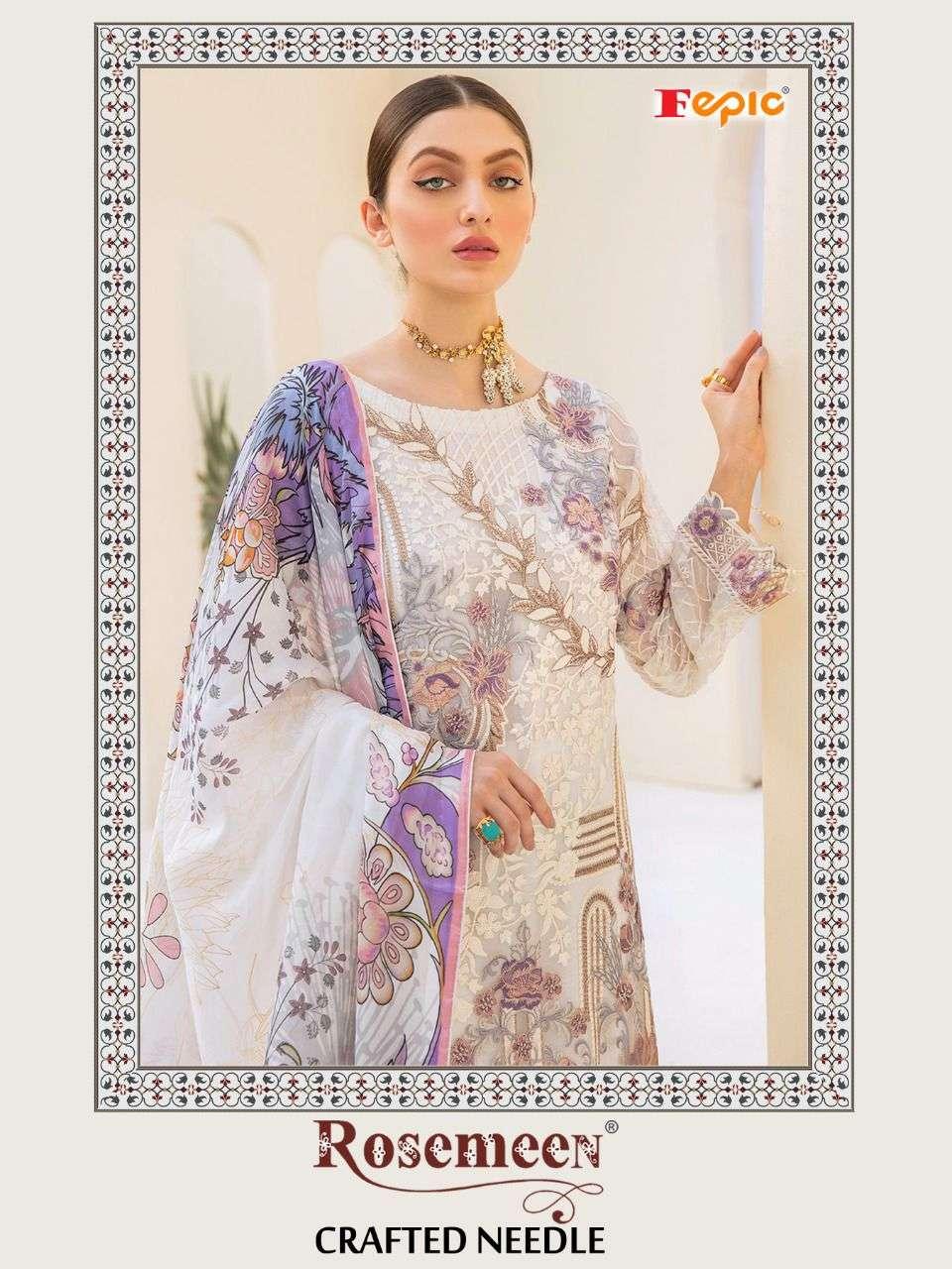 Fepic Crafted Needle Georgette Pakistani Fancy Salwar Kameez