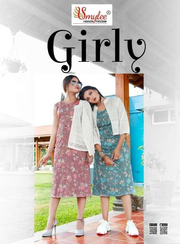 Girly By Rung Rayon Kurti With Cotton Jacket