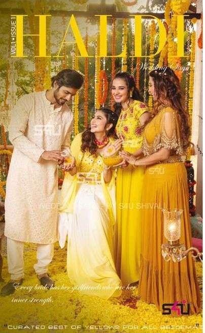 Haldi By S4u Exclusive Party Wear Wedding Long Suits