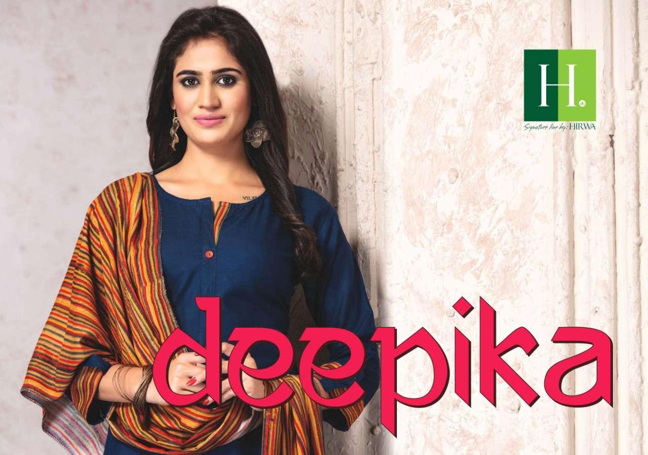 Hirwa-deepika   Top With Plazo And Dupatta