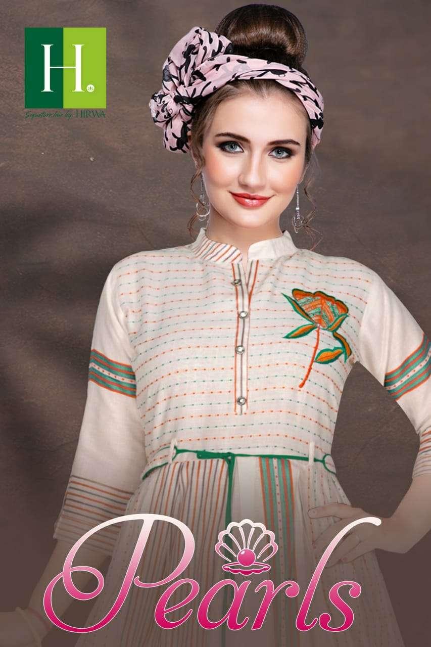 Hirwa - Pearls  Long Gherra Kurta With Belt