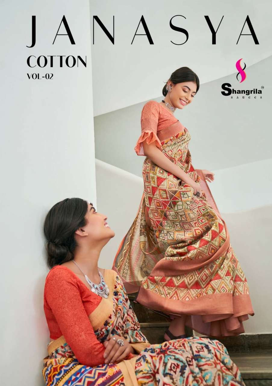 Janasya Cotton Vol 2 Fancy Soft Jari Cotton Sarees By Shangrila