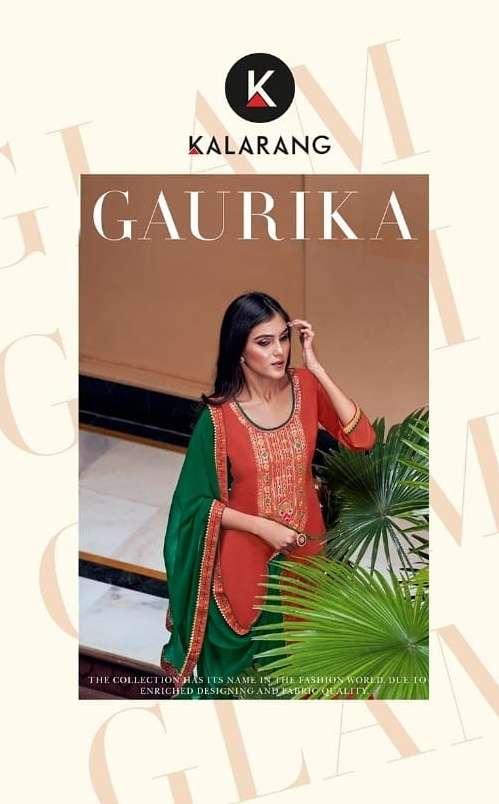 Kalarang Gaurika Viscose Silk Designer Suits