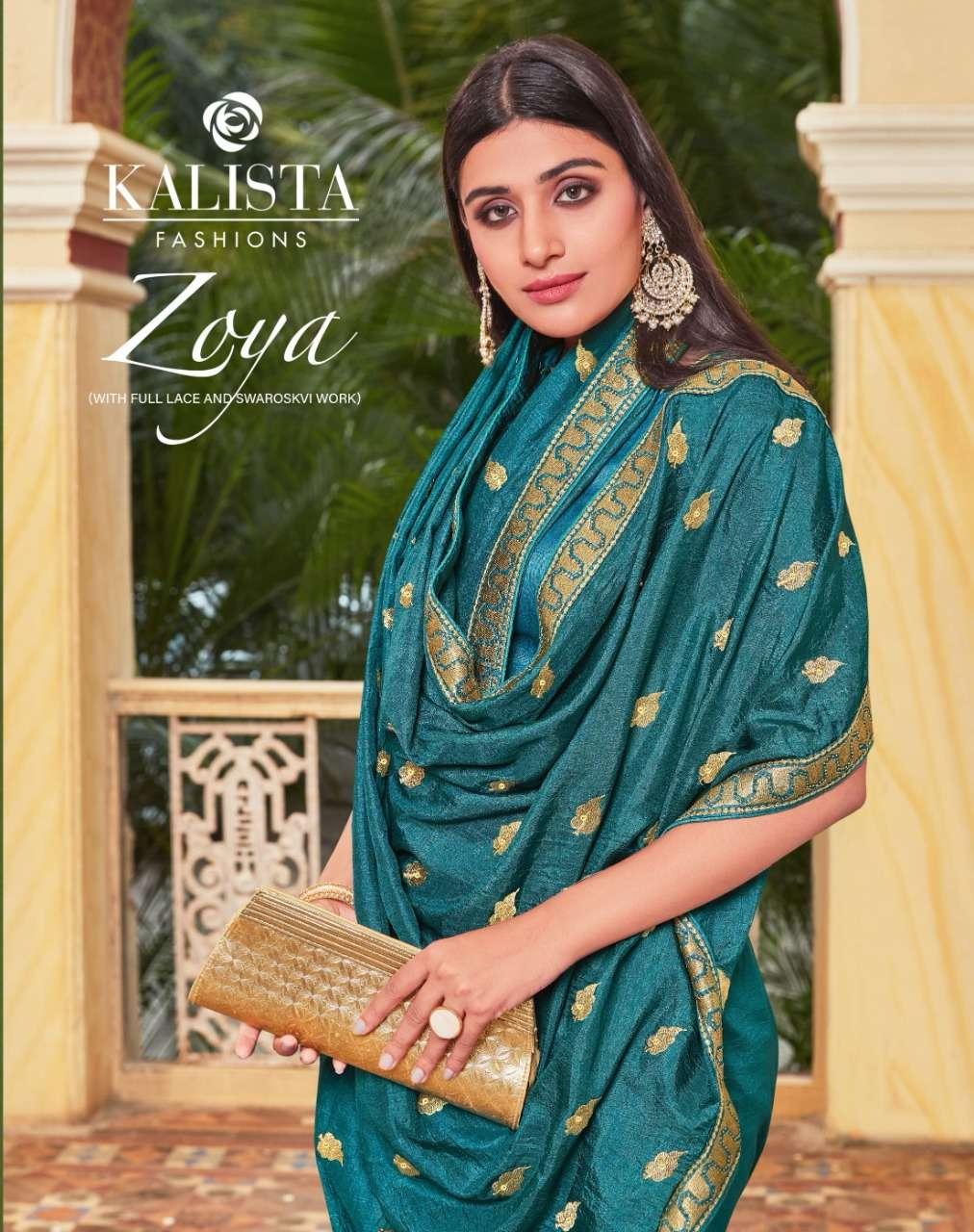 Kalista Zoya Vichitra Silk Designer Saree