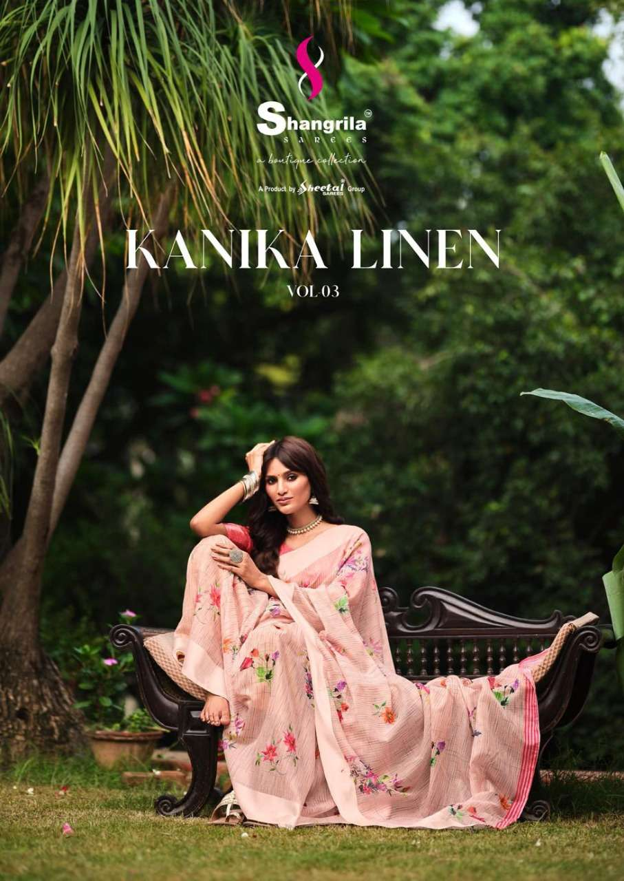 Kanika Linen Vol 3 Rich Collection Of Linen-cotton Sarees By Shangrila