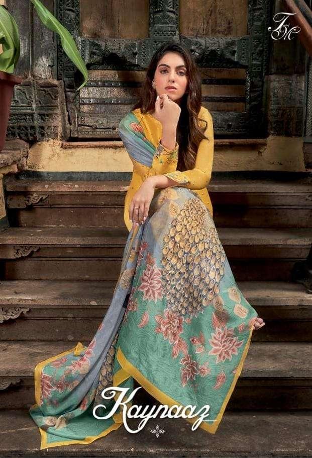 Kaynaaz Russian Silk With Neck And Sleeves Digital Printed Fancy Salwar Kameez By T & M Designer