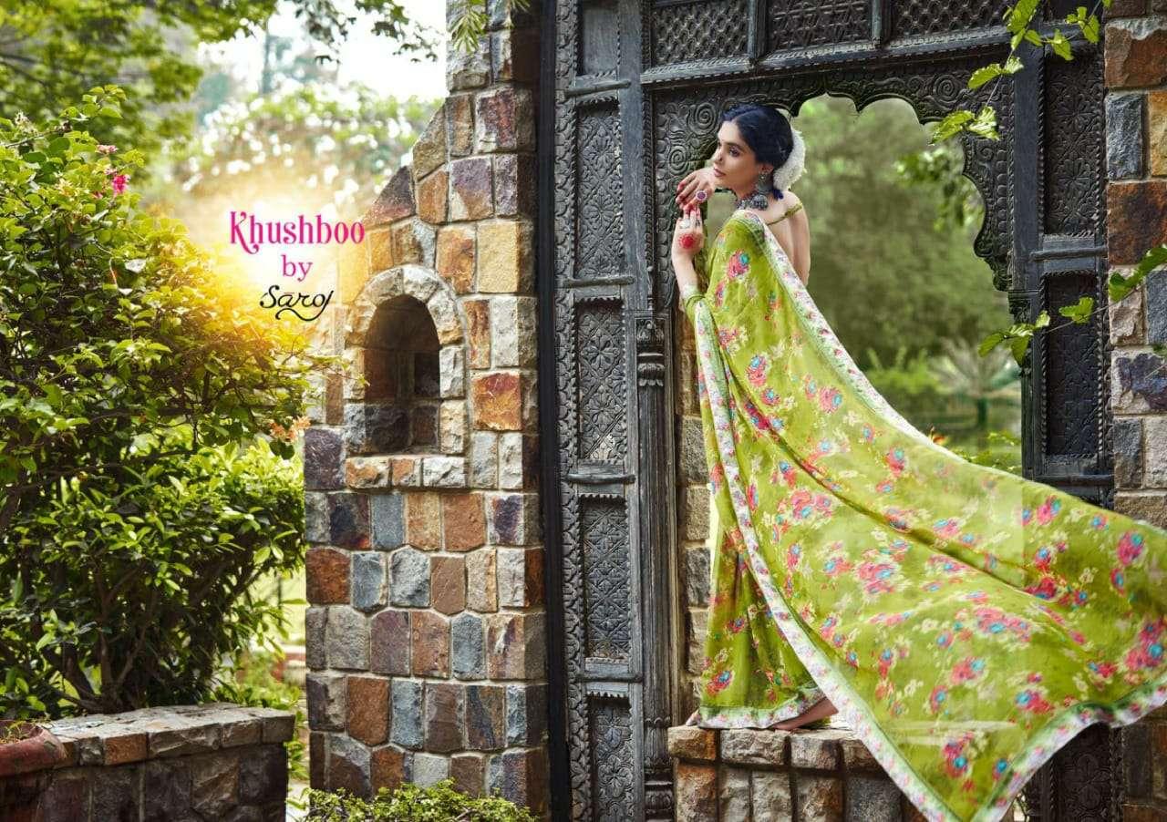Khushboo By Saroj Georgette Saris Export