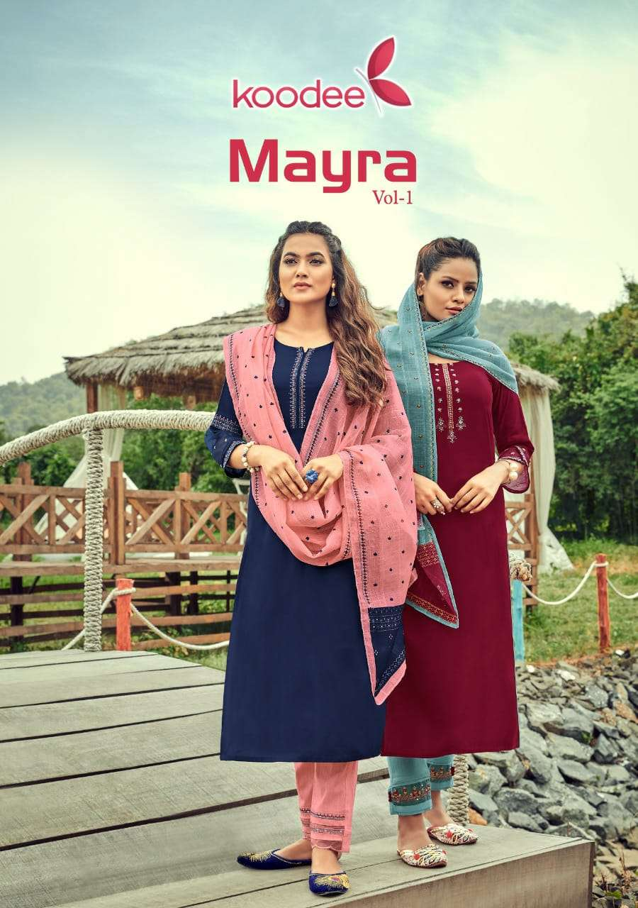 Koodee Mayra Vol 1 Rayon Full Stitch Salwar Suits