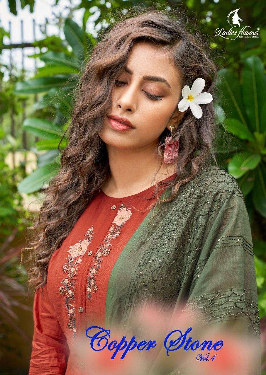 Ladies Copper Stone Vol 4 Full Stitch Salwar Kameez Seller