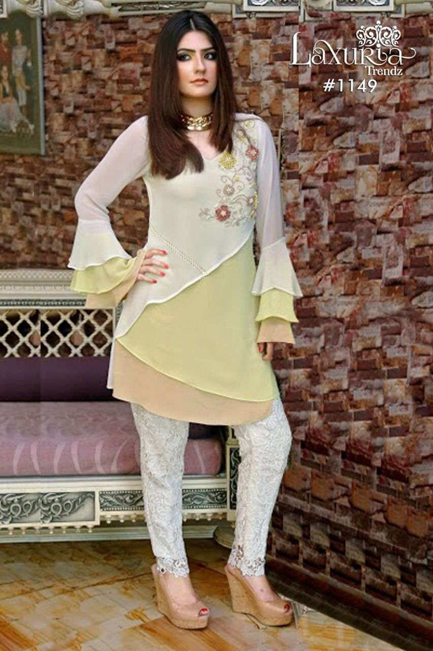 Laxuria 1149 Georgette Pakistani Kurti With Pant Collection