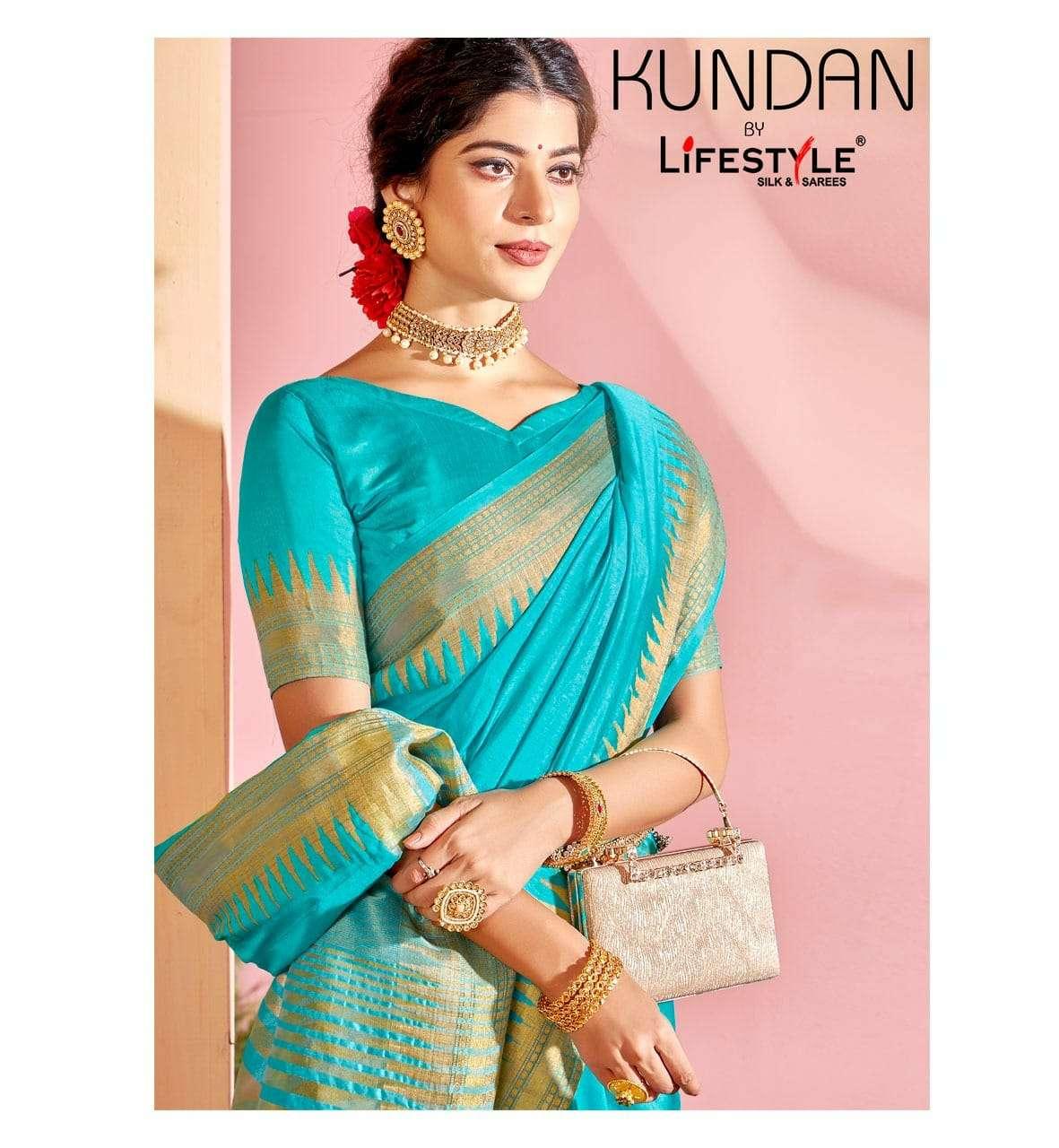 Lifestyle Kundan Nylone Silk Fancy Designer Saree