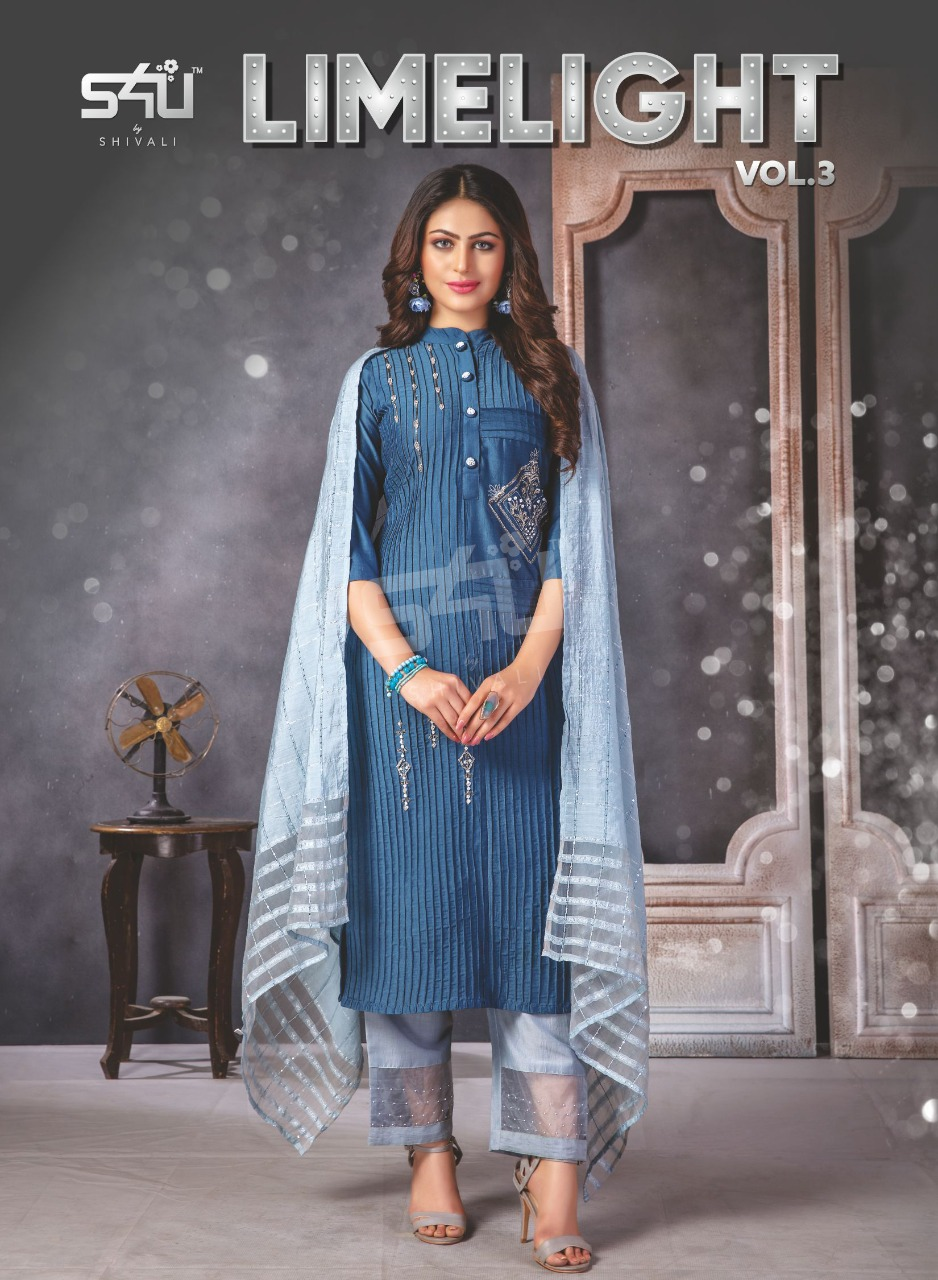 Limelight Vol 3 By S4u By Shivali Classy Look Fancy Readymade Salwar Suits Wholesale Price