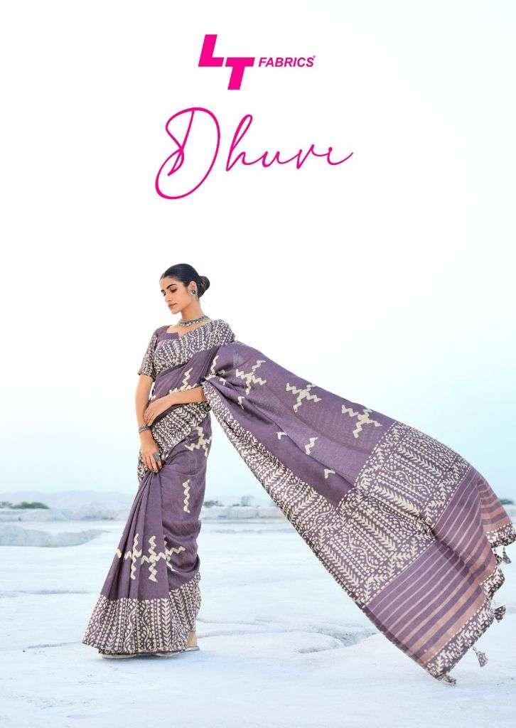 Lt Fashion Dhuvi Cotton Silk Designer Printed Saree