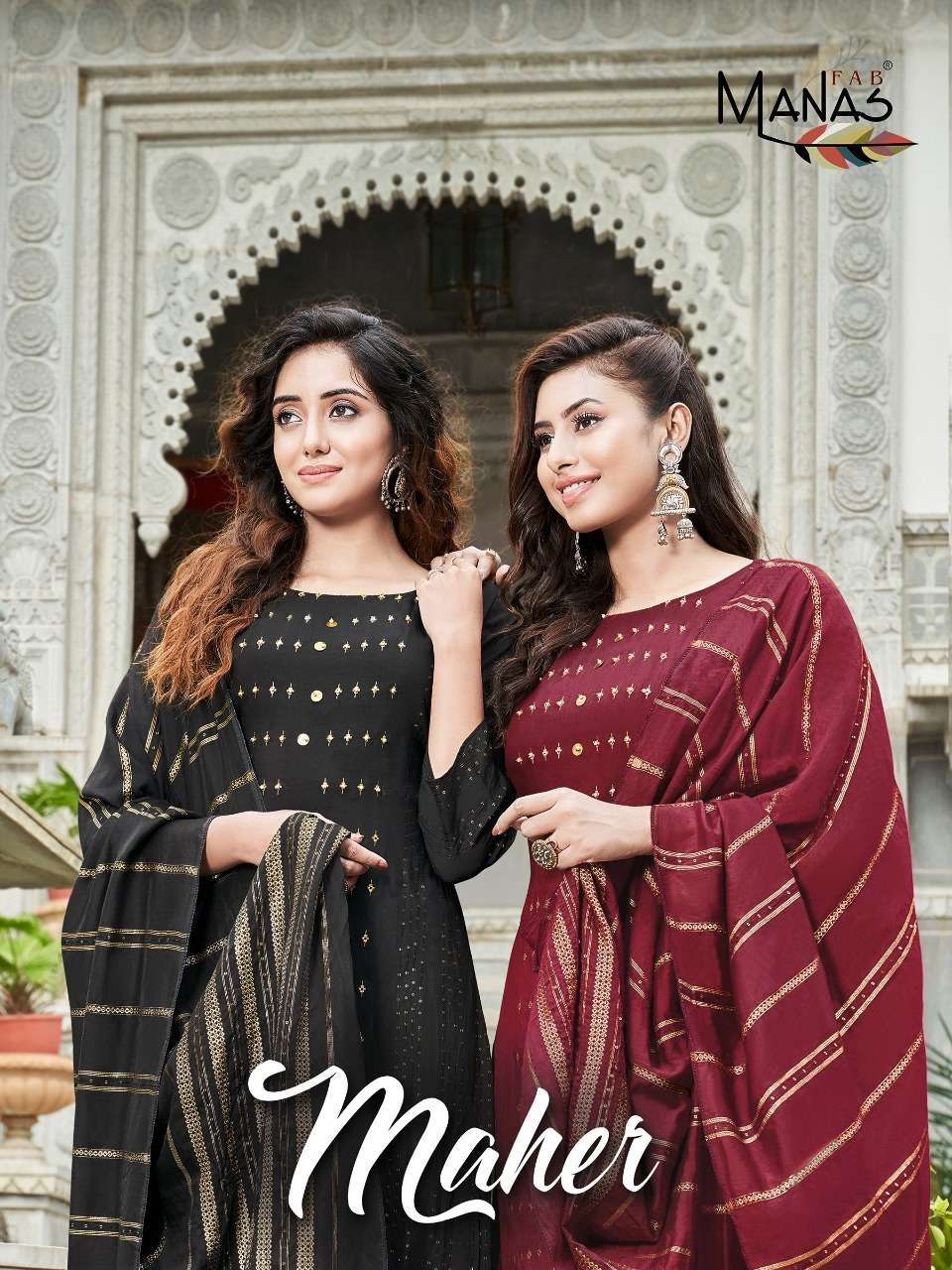 Manas Fab Maher Readymade Fancy Suits Wholesaler