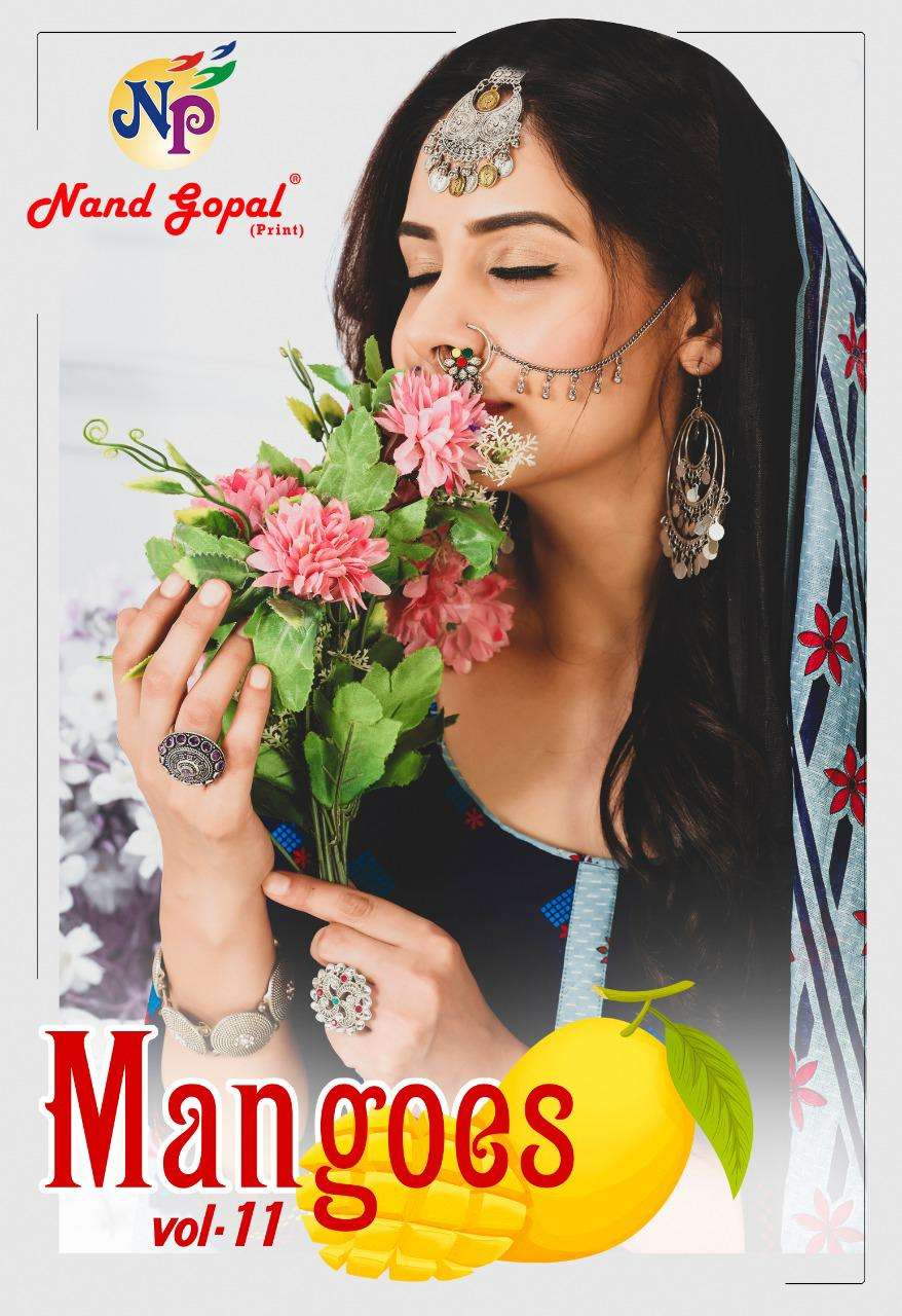 Mangoes V-11 Casual Wear Salwar Kameez By Nand Gopal Print