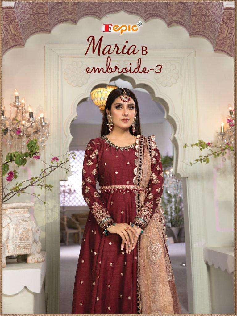 Maria B Embroide Vol 3 By Fepic Pakistani Designer Suits