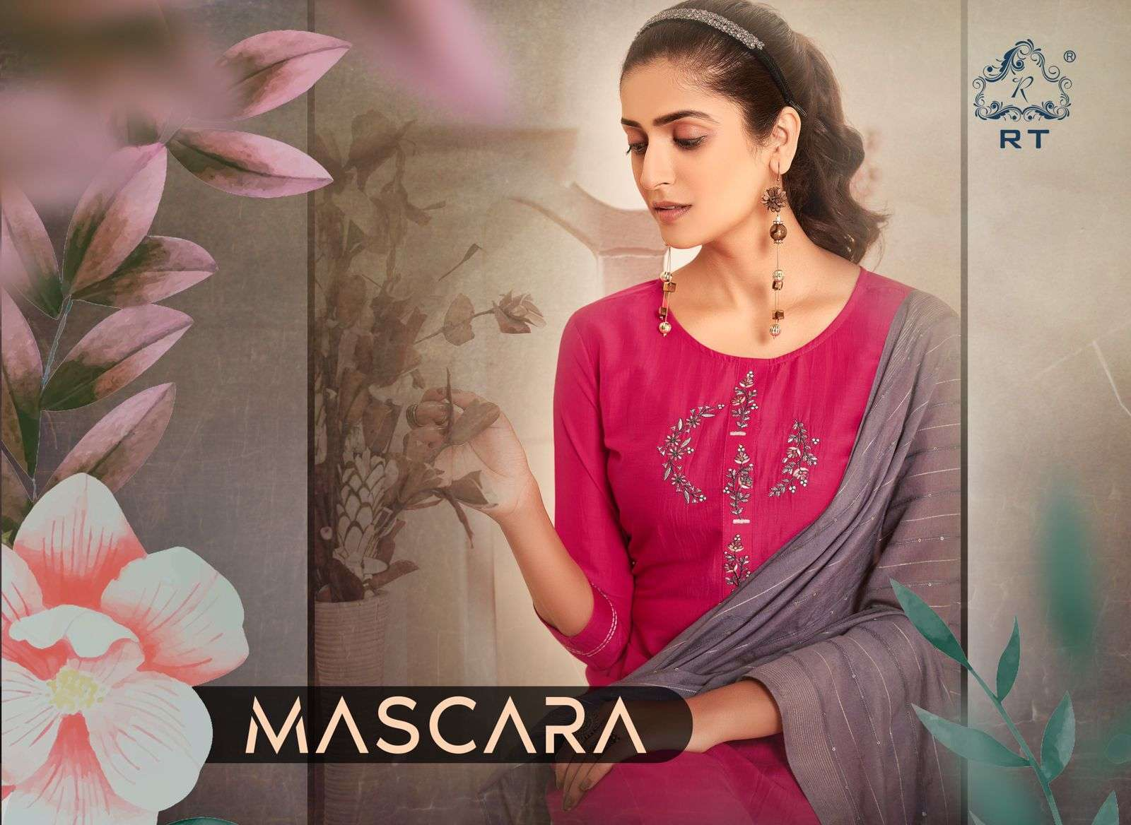 Mascara Readymade Fancy Kurti With Bottom And Dupatta By Rijiya Trends