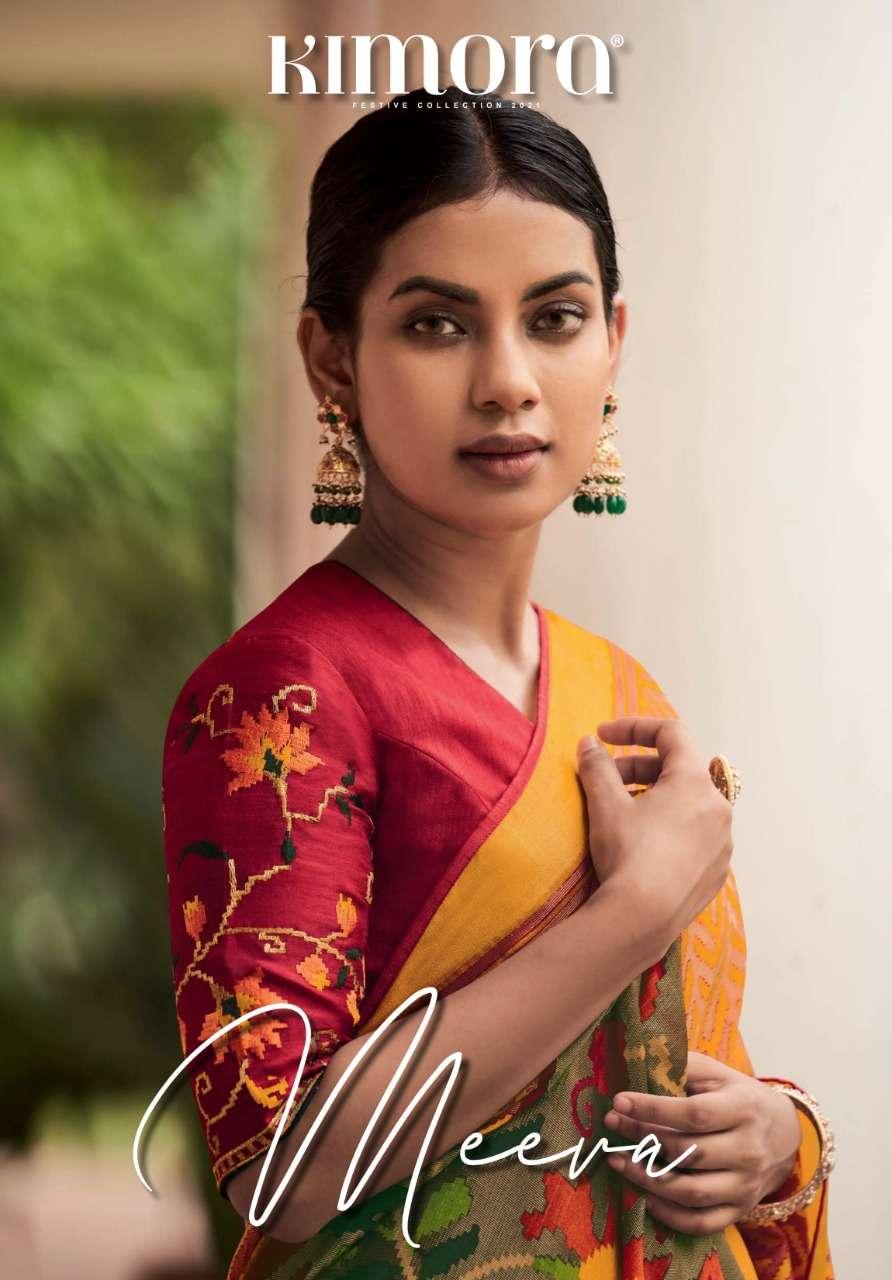 Meera Vol 3 By Kimora Fashion Brasso Sarees Exports