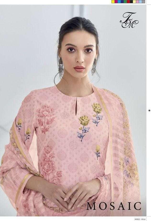 Mosaic Pure Bali Silk Print With Threadal Work Fancy Salwar Kameez By T & M Designer