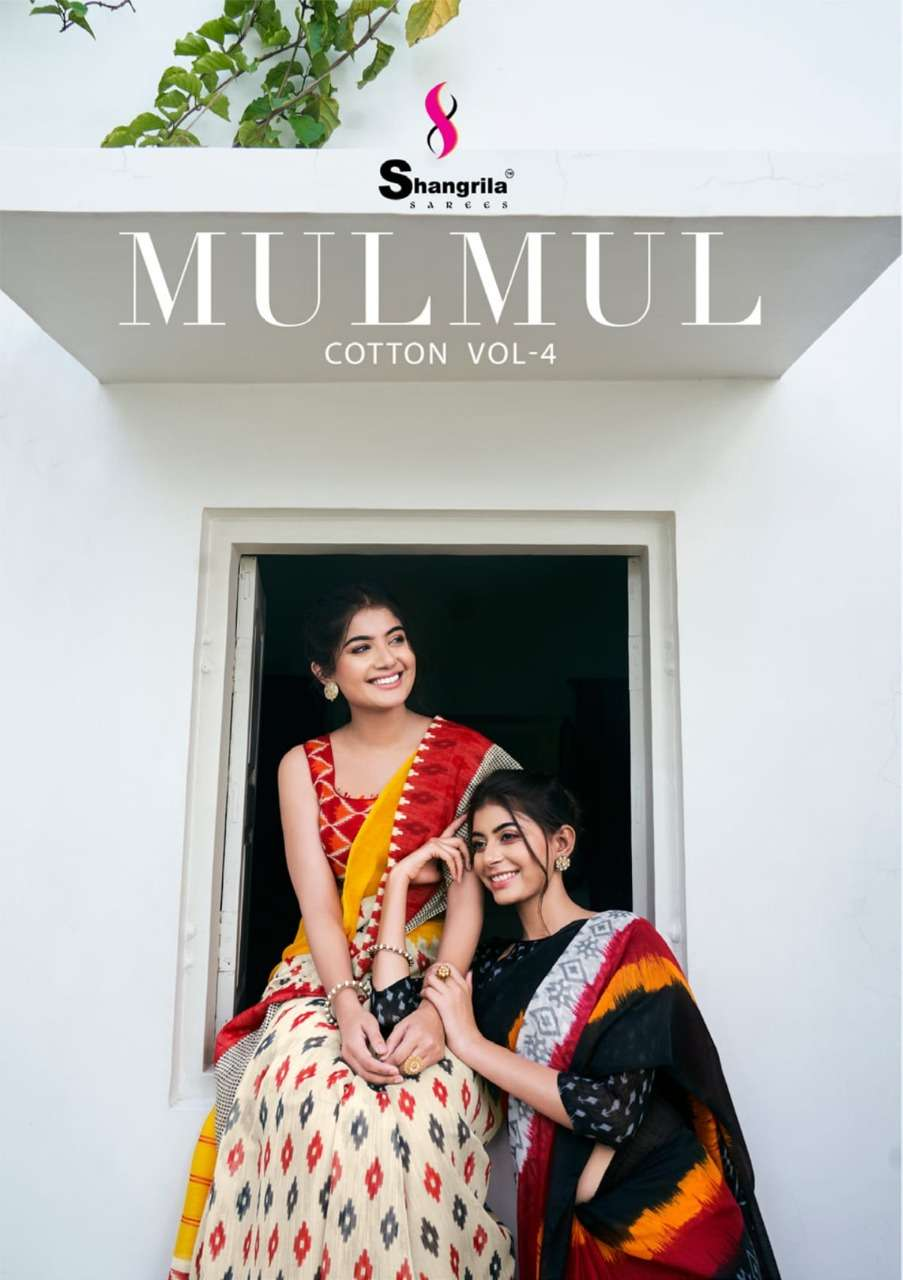 Mulmul Cotton Vol 4 Printed Sarees By Shangrila