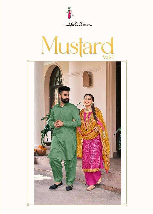 Mustard By Eba Georgette Exclusive Fancy Suits