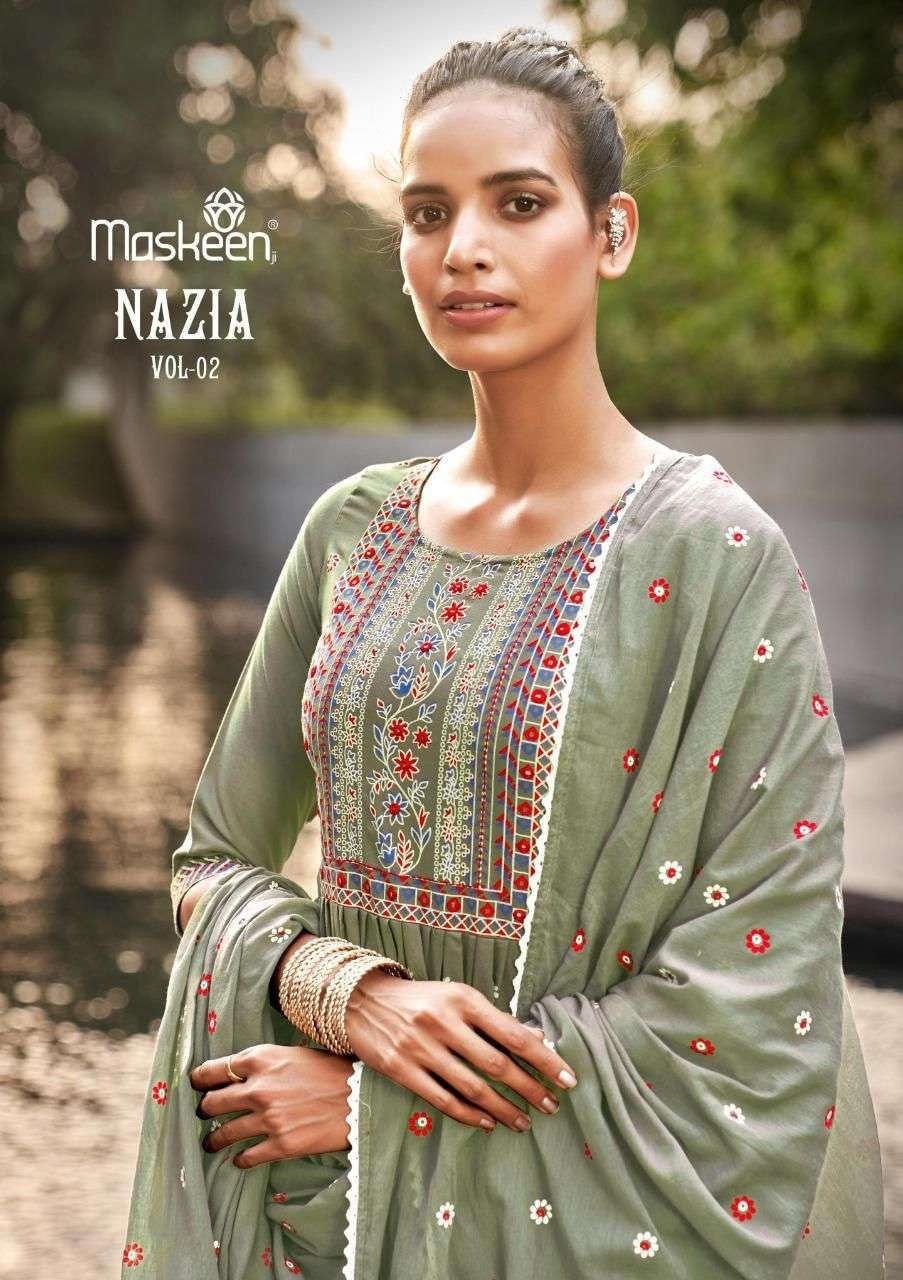 Nazia Vol 2 By Maskeen Top With Bottom And Dupatta Set