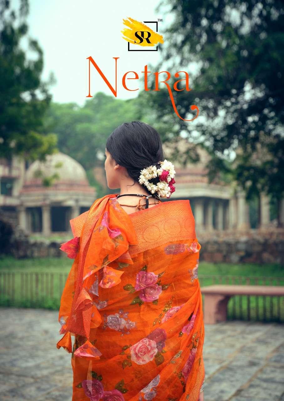 Netra By Sr Brand Organza Fabrc Sarees Catalogs Best Rates