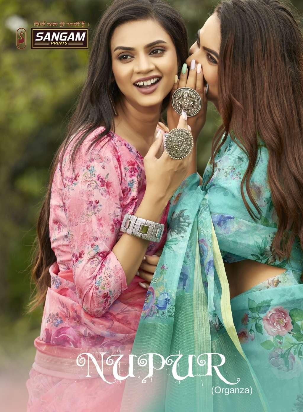 Nupur By Sangam Designer Organza Digital Print Sari Supplier