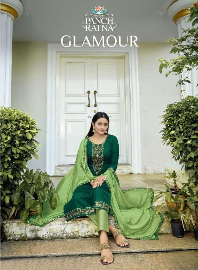Panch Ratna Glamour Jam Silk Fancy Salwar Kameez