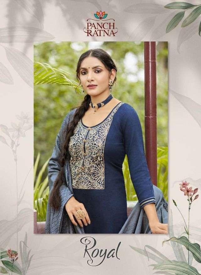 Panch Ratna Royal Jam Silk Designer Fancy Suits