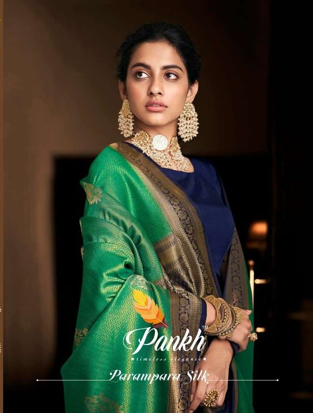 Parampara Silk 801-813 Series Party Wear Fancy Sarees By Pankh