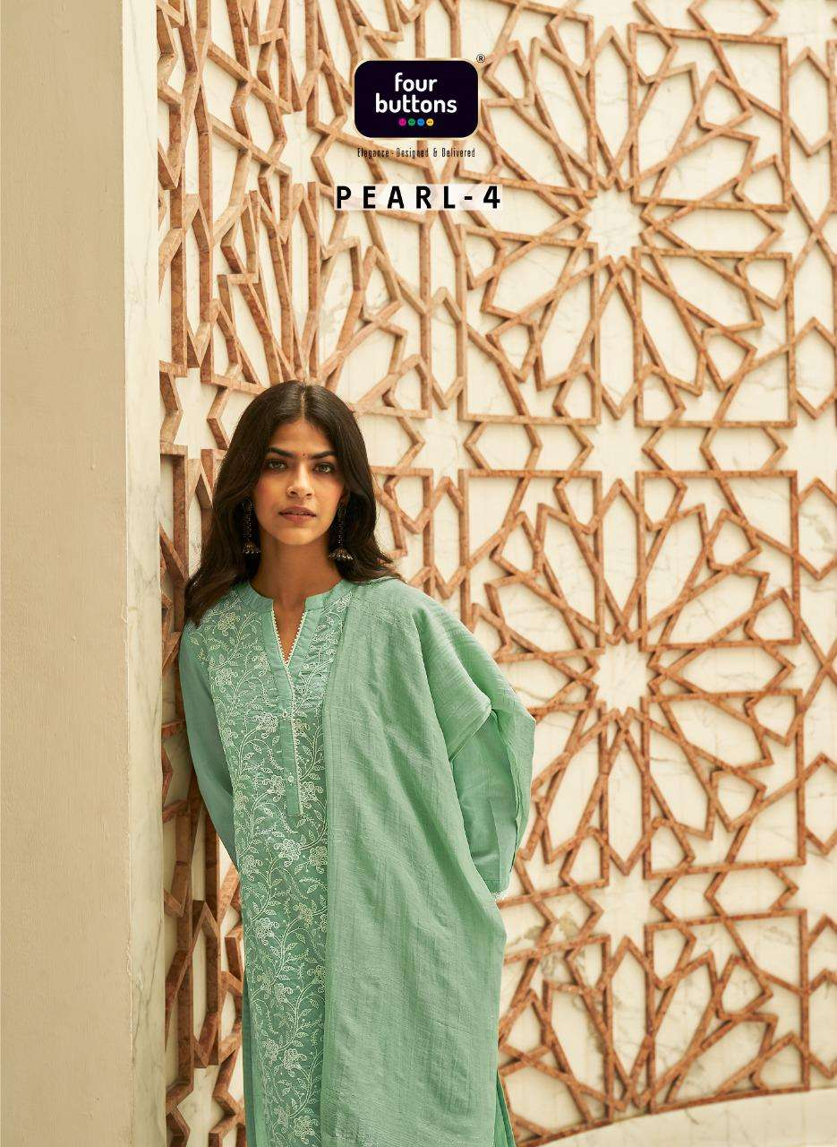 Pearl Vol 4 By Four Buttons Readymade Suits Wholesaler
