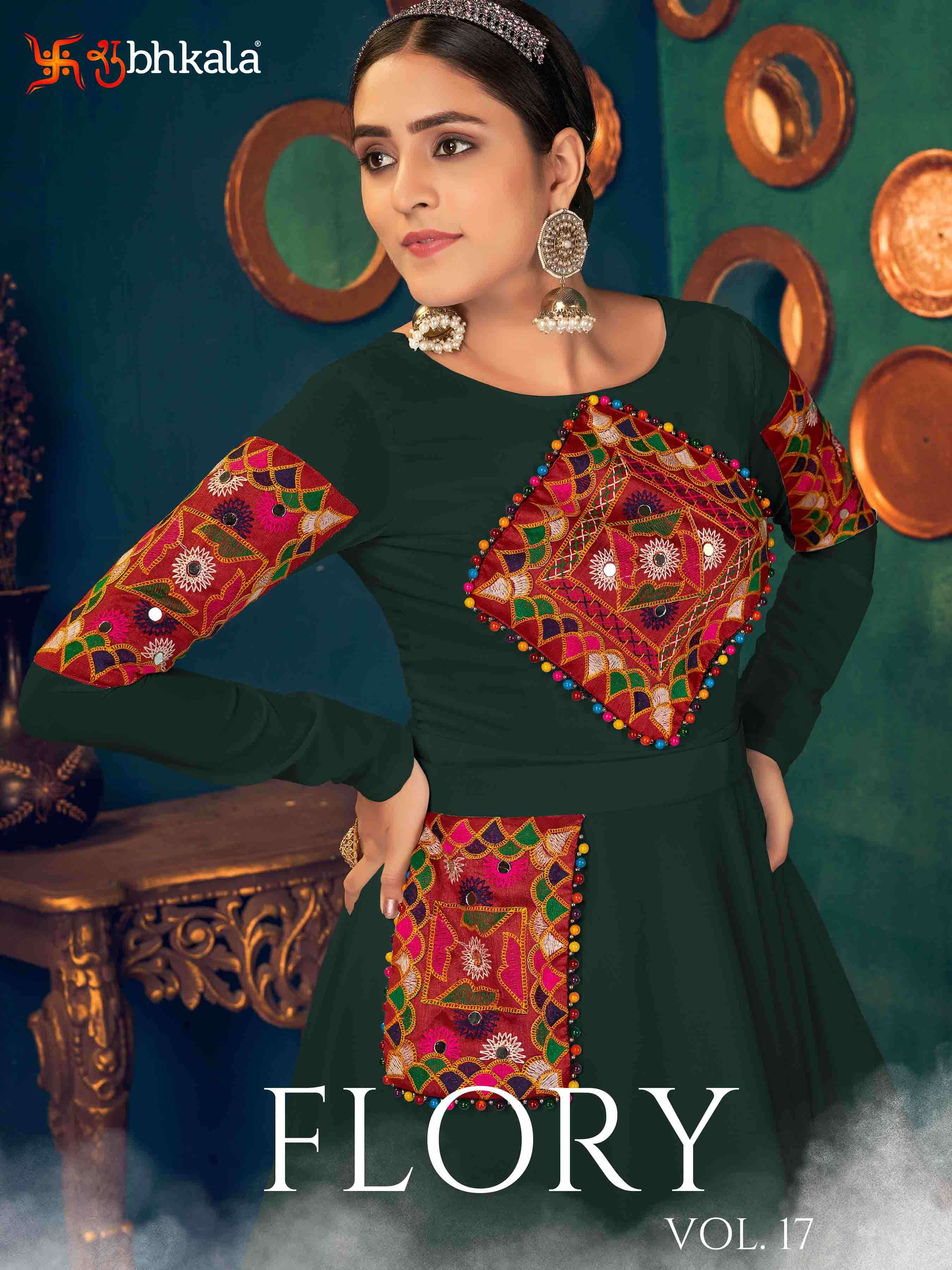 Product By Shubhkala Flory Vol. 17 Festival Style Long Anarkali Style Gown Collection