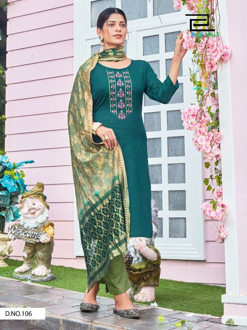 Queen Vol 3 By Blue Hills Kurti With Bottom And Dupatta