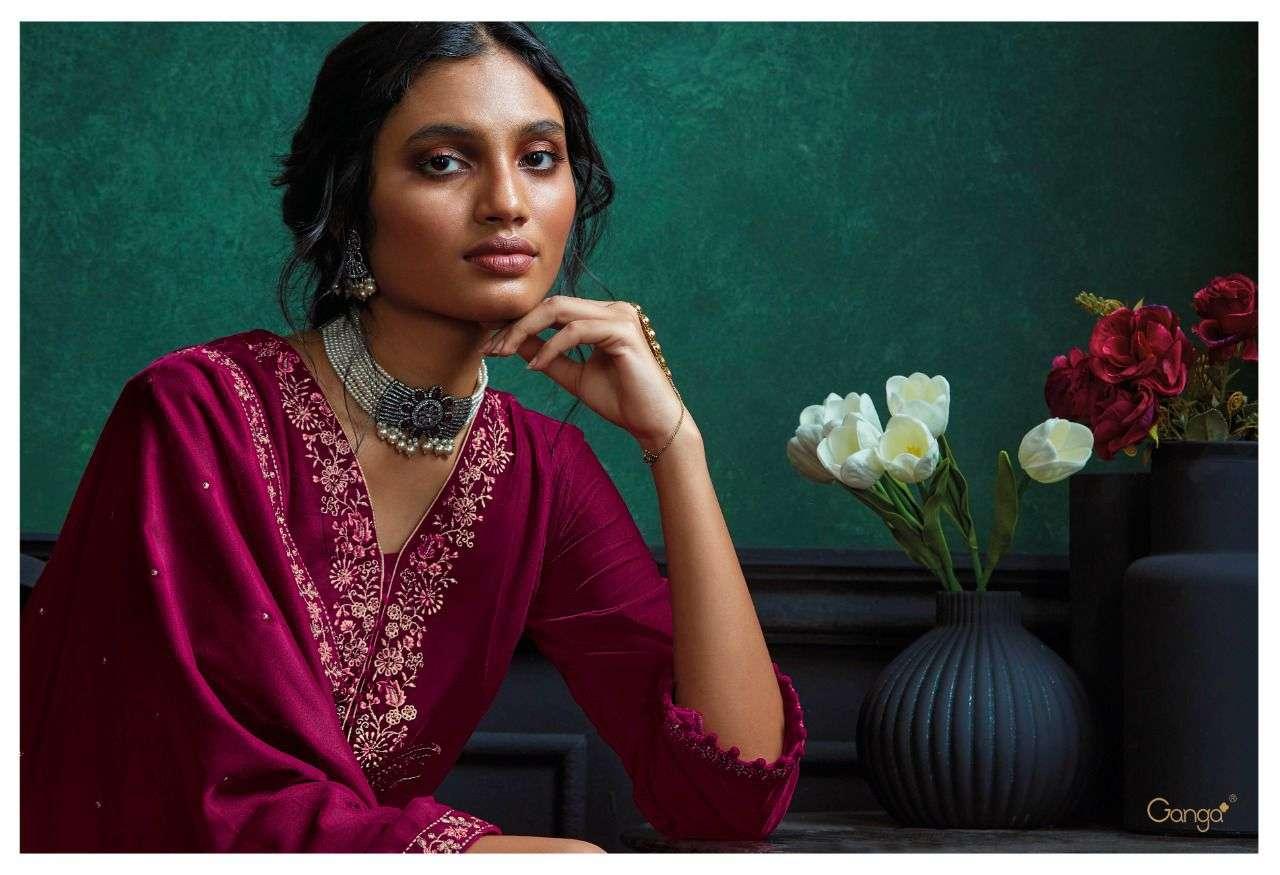 Qurb Premium Velvet Stylish Fancy Salwar Kameez By Ganga