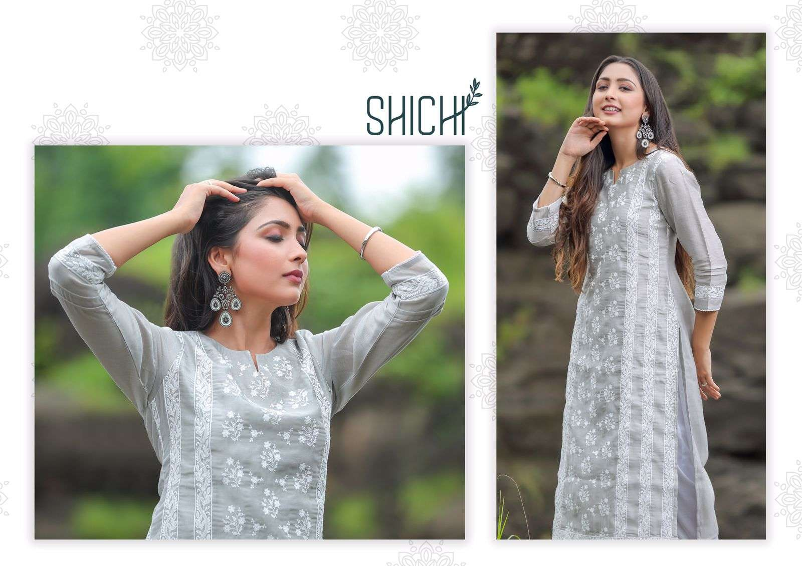 Qurbat By Shichi Top With Pant Set