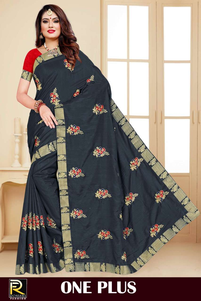 Ranjna Saree One Plus Embroidery Warked Fastive Wear Saree Collection