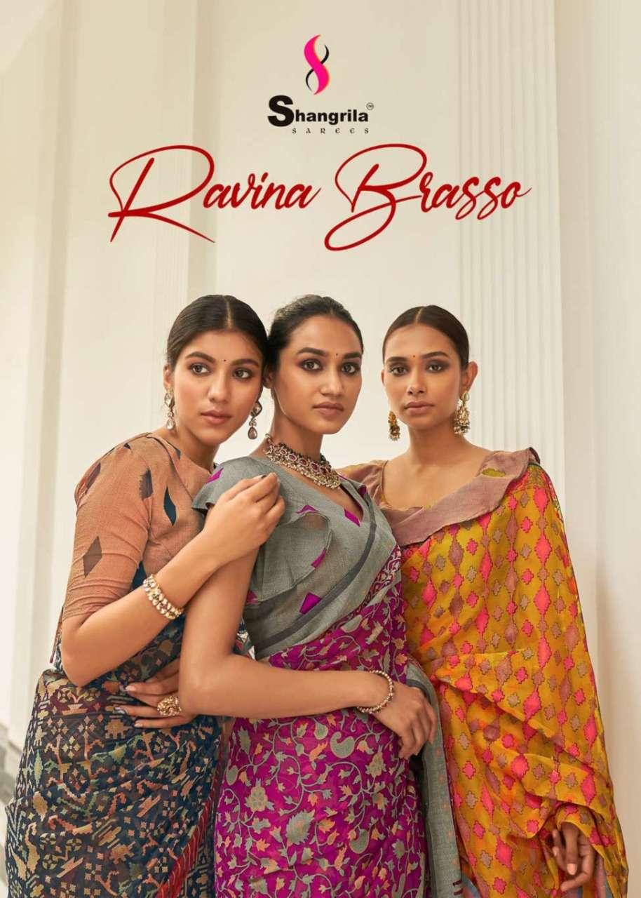 Ravina Orgenza Brasso Designer Sarees By Shangrila