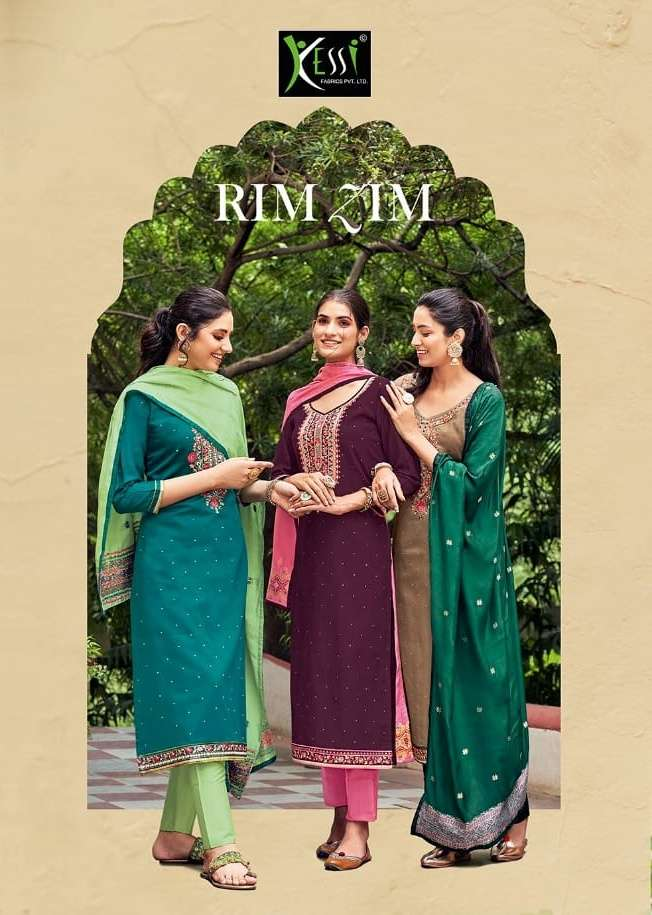 Rim Zim By Kessi Jam Silk Designer Fancy Salwar Kameez