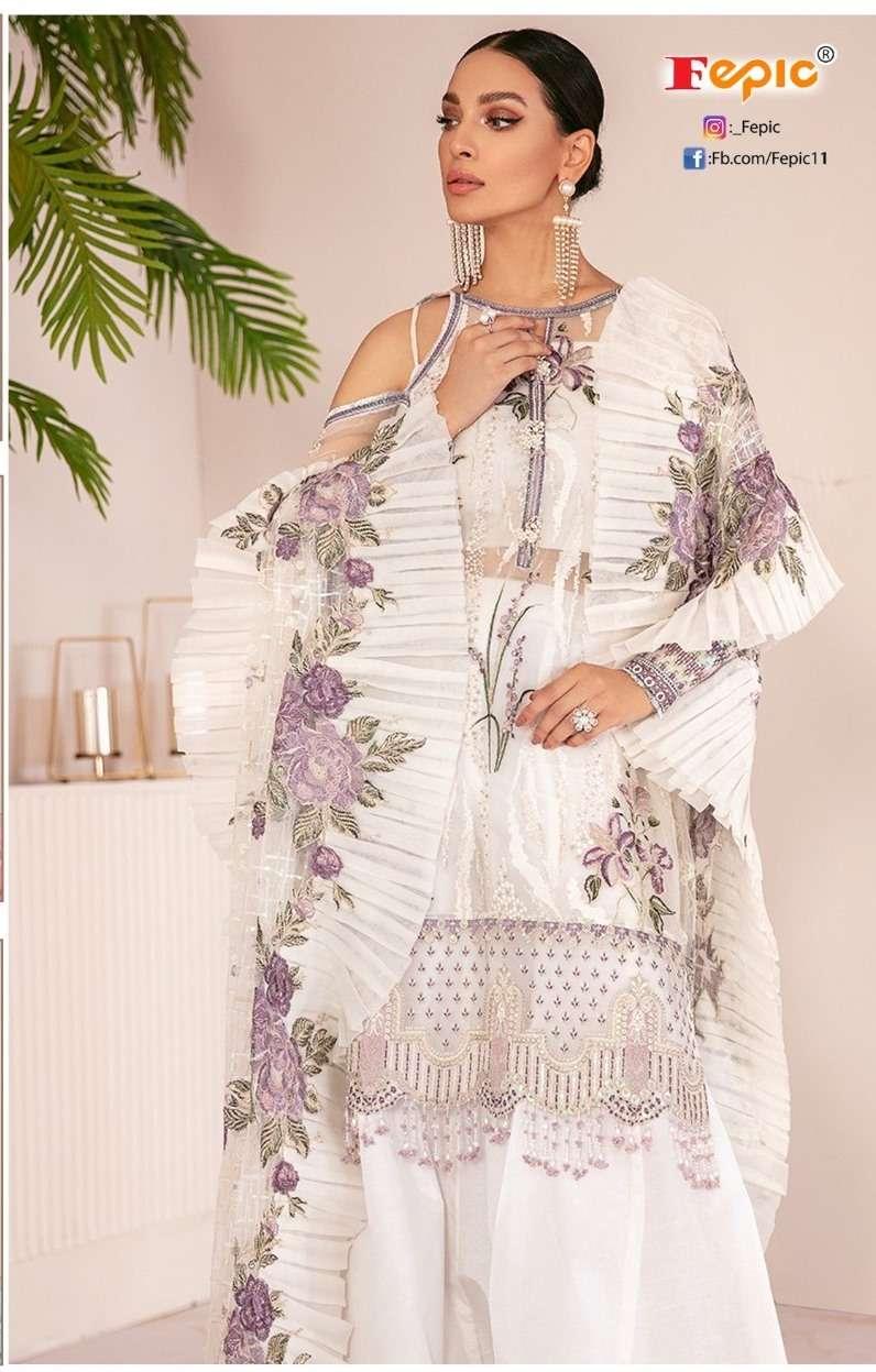 Rosemeen D-5136 Pakistani Fox Georgette Embroidered Party Wear Salwaar Kameez. By Fepic
