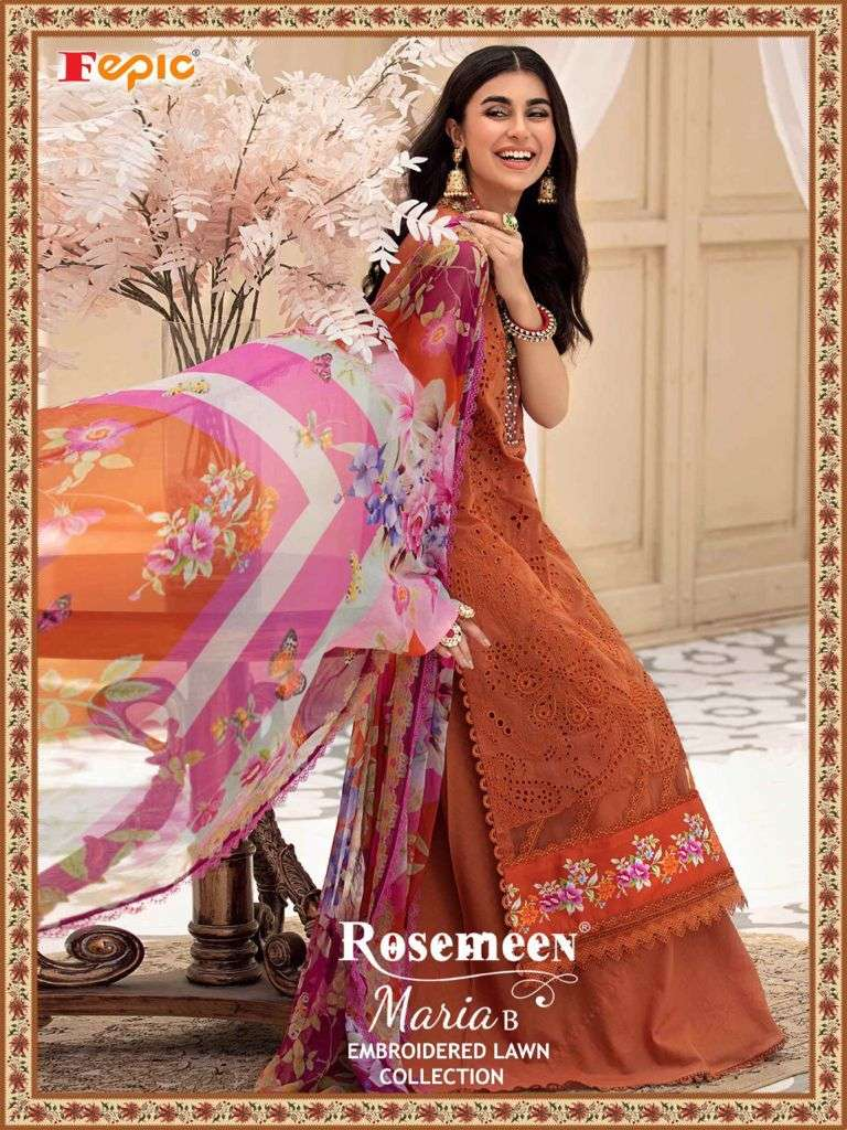 Rosemeen Maria B 2127-2130 Series Cotton Work Pakistani Dress Material By Fepic