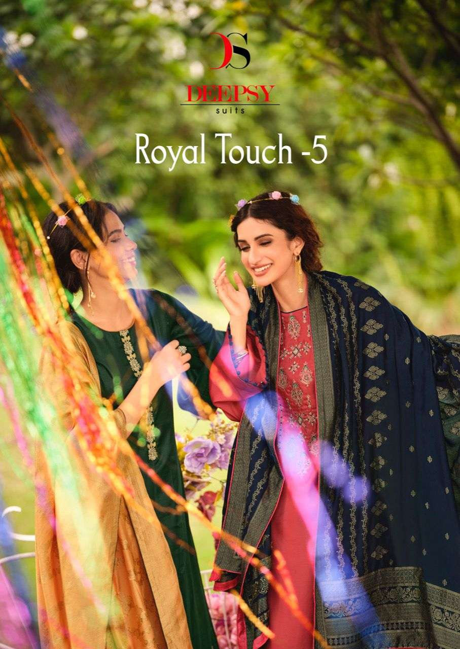 Royal Touch Vol 5 By Deepsy Tussar Silk Classy Fancy Suits