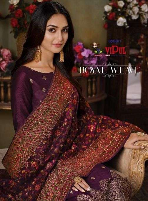 Royal Weave By Vipul Silk Jacquard Exclusive Fancy Suits
