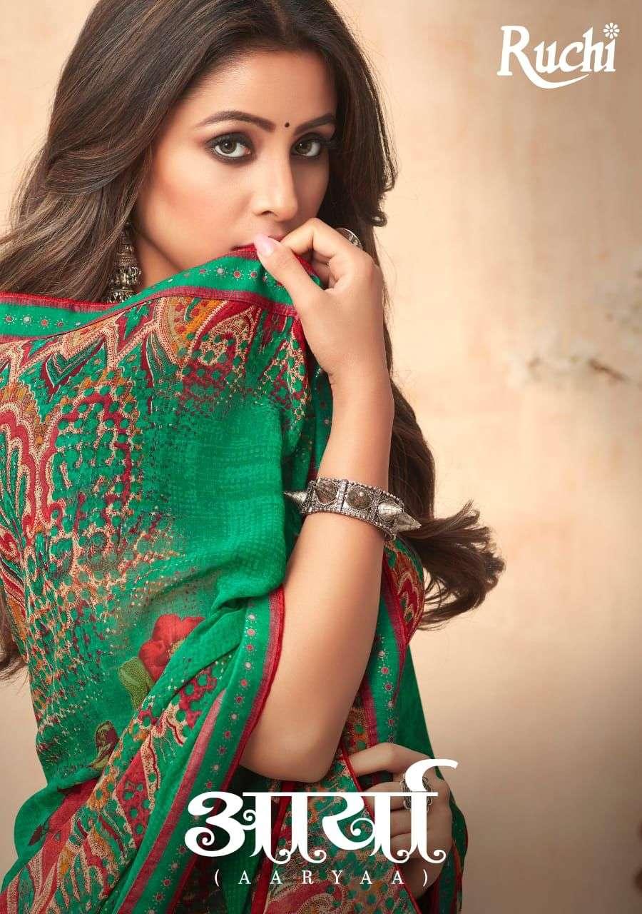Ruchi Aarya Printed Georgette Sarees