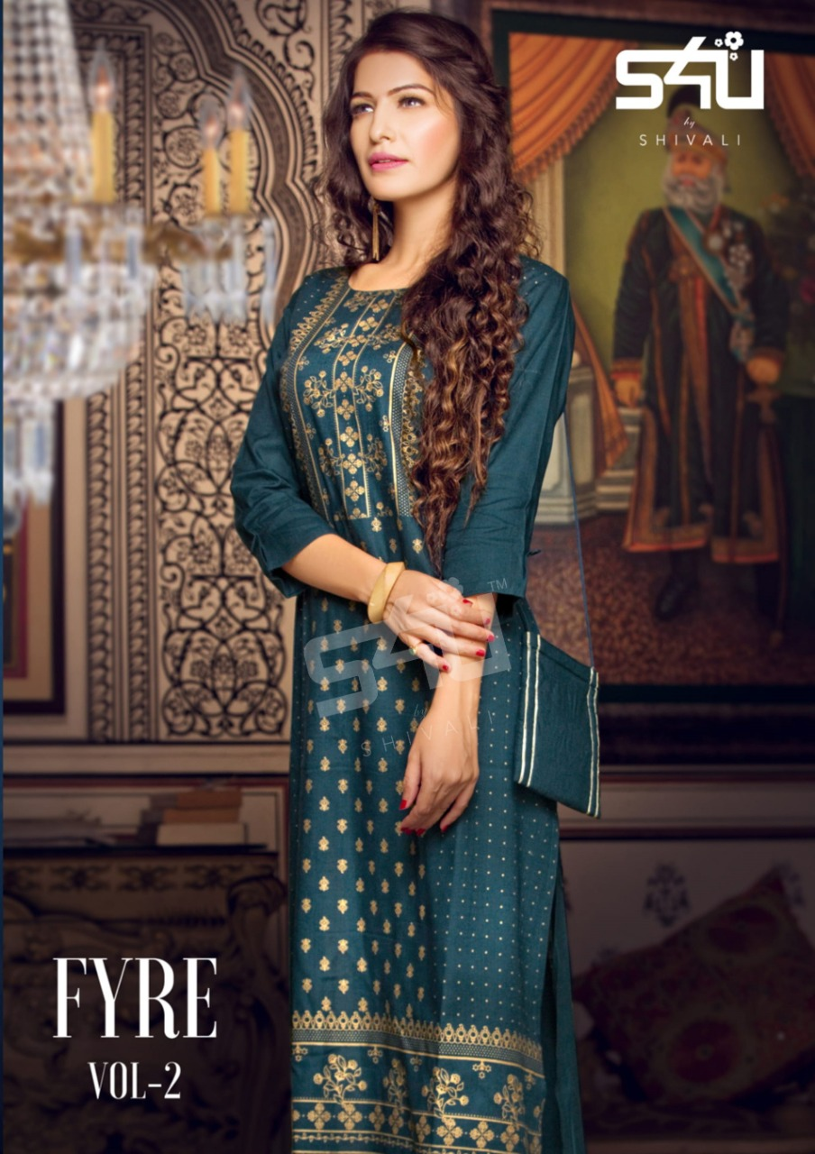 S4u By Shivali Fyre Vol 2 Cotton Exclusive Kurti With Bag Collections