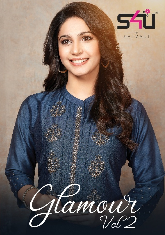 S4u By Shivali Presents Glamour Vol 2 Chinon Silk Comfortable Look Kurti At Krishna Creation In Surat
