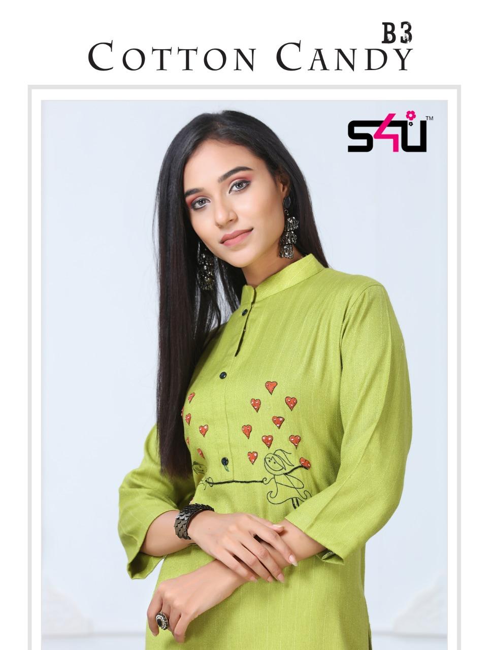 S4u Cotton Candy B3 Traditional Wear Long Kurtis Wholesaler In Surat Market