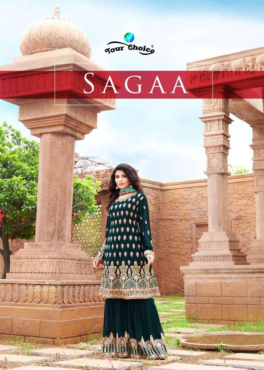 Sagga Long Peplum With Garara By Your Choice
