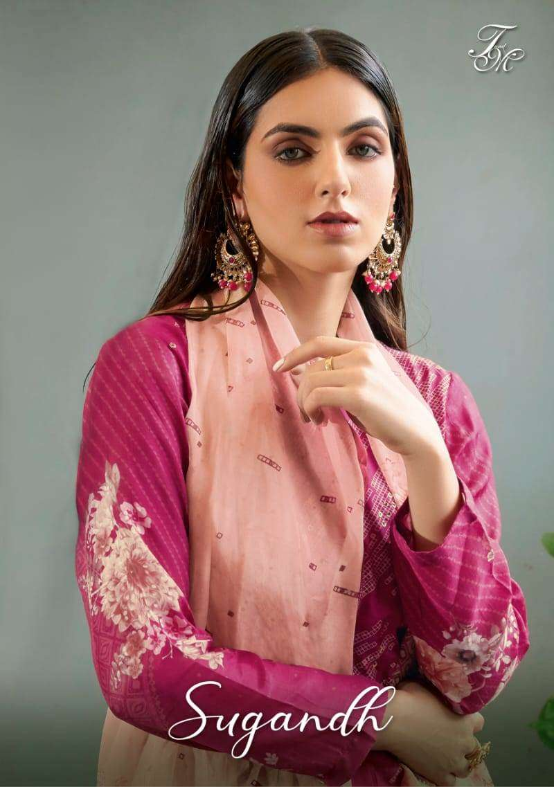 Sahiba T And M Designer  Present Sugandh Pure Silk Digital Print Salwar Suit With Hand Work